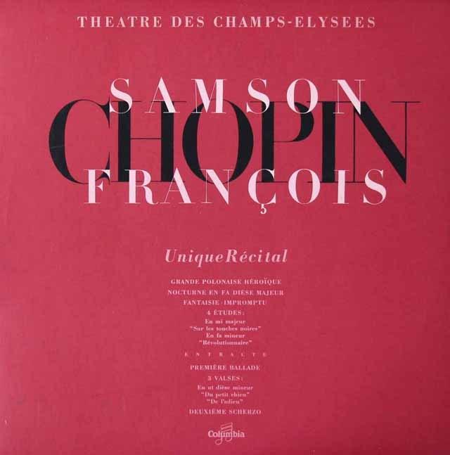 フランソワのショパン・コンサート 仏Columbia 3022 LP レコード