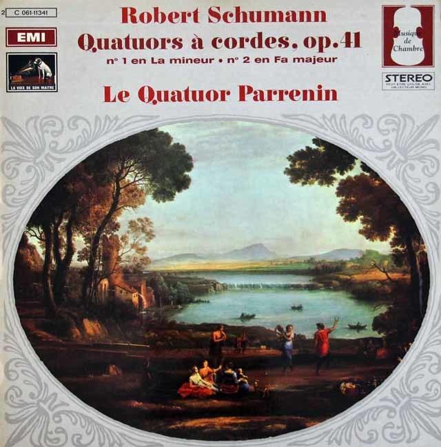 パルナン四重奏団のシューマン/弦楽四重奏曲第1&2番  仏EMI(VSM) 3024 LP レコード