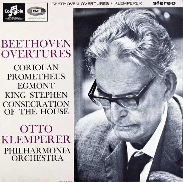 【オリジナル盤】クレンペラーのベートーヴェン/序曲集   英Columbia 3024 LP レコード