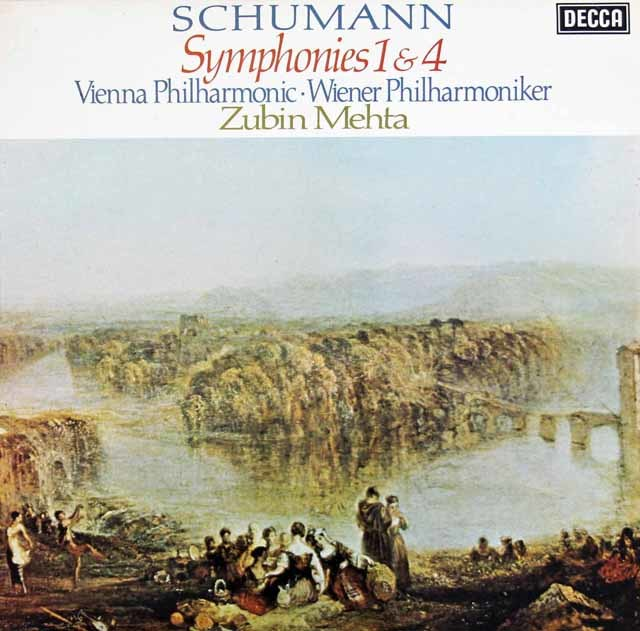 【オリジナル盤】メータのシューマン/交響曲第1&4番   英DECCA 3024 LP レコード