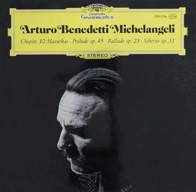 ミケランジェリのショパン/ピアノ作品集  独DGG 3024 LP レコード