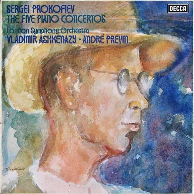 アシュケナージ&プレヴィンのプロコフィエフ/ピアノ協奏曲全集   英DECCA 3024 LP レコード