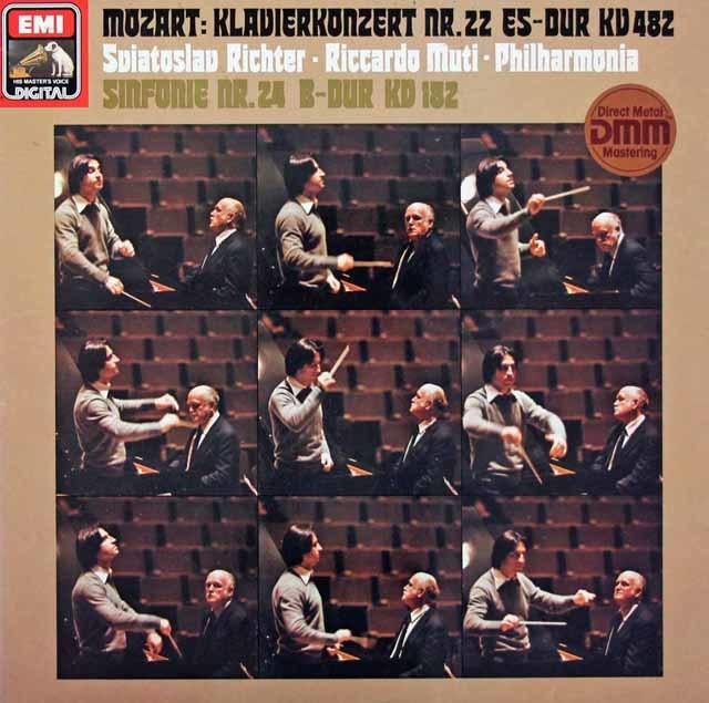 リヒテル&ムーティのモーツァルト/ピアノ協奏曲第22番ほか   独EMI 3026 LP レコード