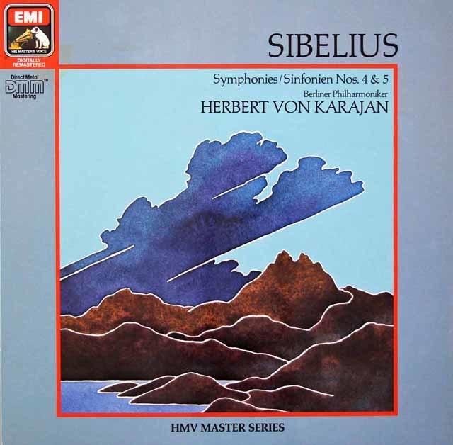 カラヤンのシベリウス/交響曲第4&5番  独EMI 3026 LP レコード