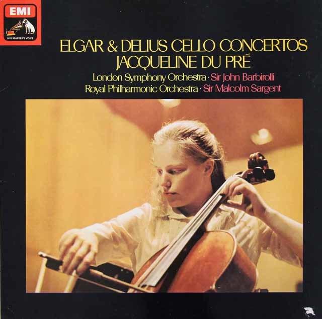 デュ・プレのエルガー&ディーリアス/チェロ協奏曲  英EMI 3026 LP レコード