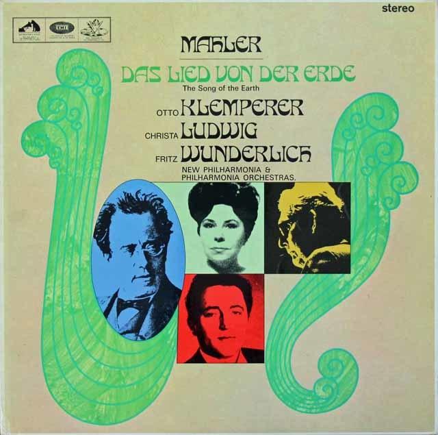 クレンペラーのマーラー/「大地の歌」   英EMI 3026 LP レコード