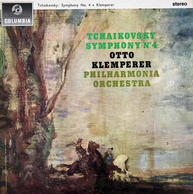 クレンペラーのチャイコフスキー/交響曲第4番   英Columbia 3026 LP レコード
