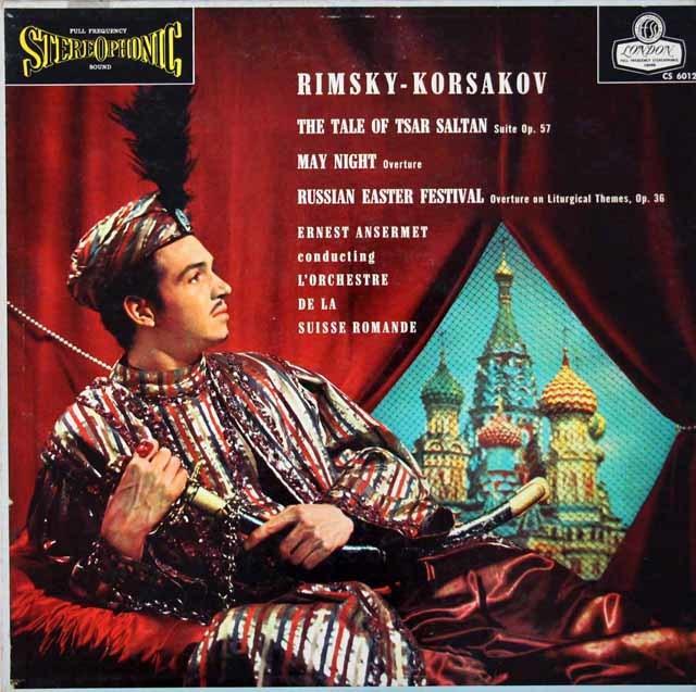 【ブルー・バック・ジャケット】アンセルメのリムスキー=コルサコフ/「サルタン皇帝の物語」組曲ほか 英LONDON 3026 LP レコード