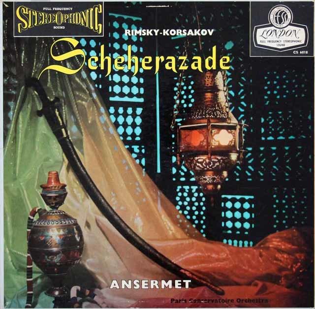 【ブルー・バック・ジャケット】アンセルメのリムスキー=コルサコフ/交響組曲「シェヘラザード」 英LONDON 3026 LP レコード