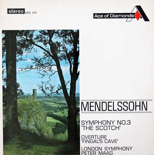 マークのメンデルスゾーン/交響曲第3番「スコットランド」ほか 英DECCA 3026 LP レコード