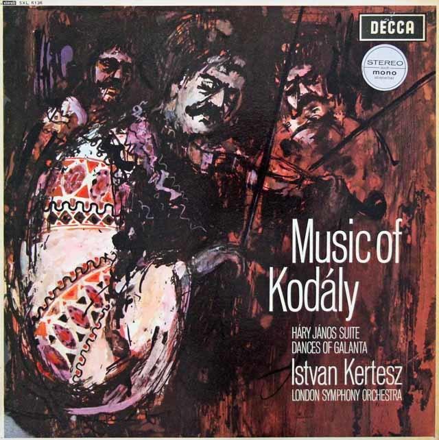 ケルテスのコダーイ/「ハーリ・ヤノーシュ」&ガランタ舞曲集  英DECCA 3026 LP レコード
