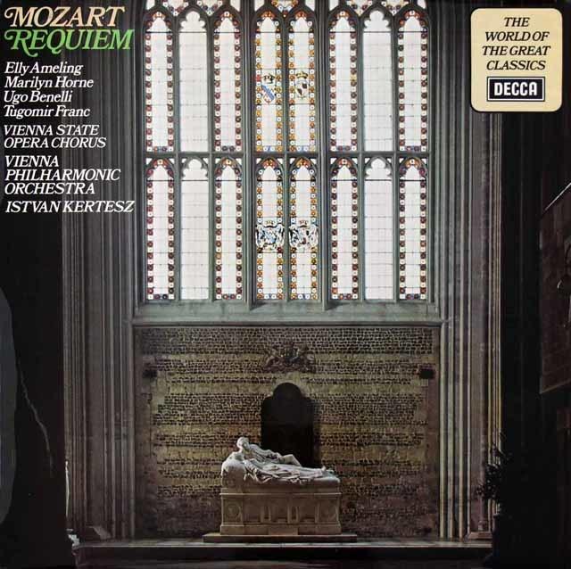 ケルテスのモーツァルト/レクイエム  英DECCA 3026 LP レコード