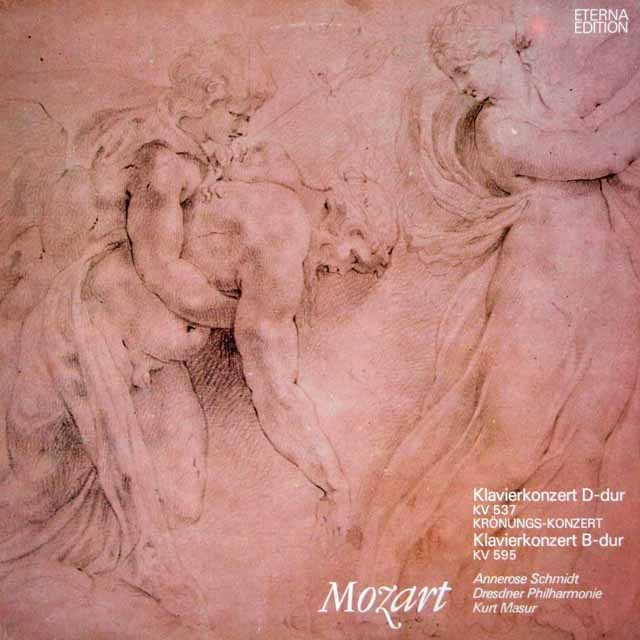 シュミット&マズアのモーツァルト/ピアノ協奏曲第26番「戴冠式」&第27番    独ETERNA 3026 LP レコード