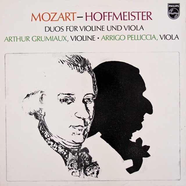 グリュミオー&ペリチアのモーツァルト&ホフマイスター/二重奏曲集    蘭PHILIPS 3026 LP レコード