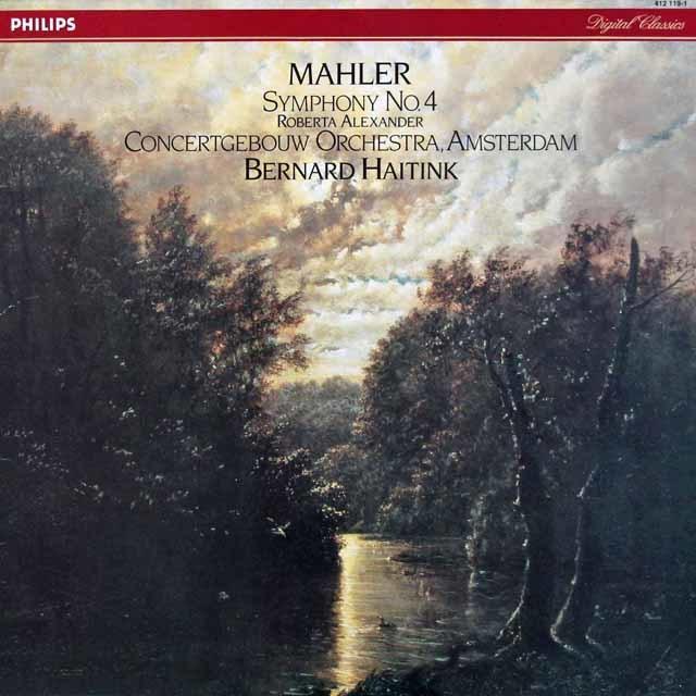 ハイティンクのマーラー/交響曲第4番   蘭PHILIPS 3027 LP レコード