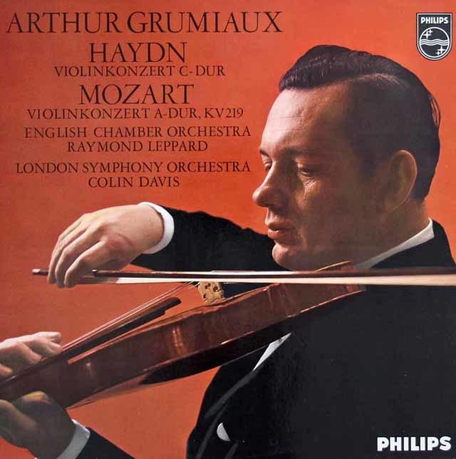 グリュミオーのハイドン&モーツァルト/ヴァイオリン協奏曲集   蘭PHILIPS 3027 LP レコード