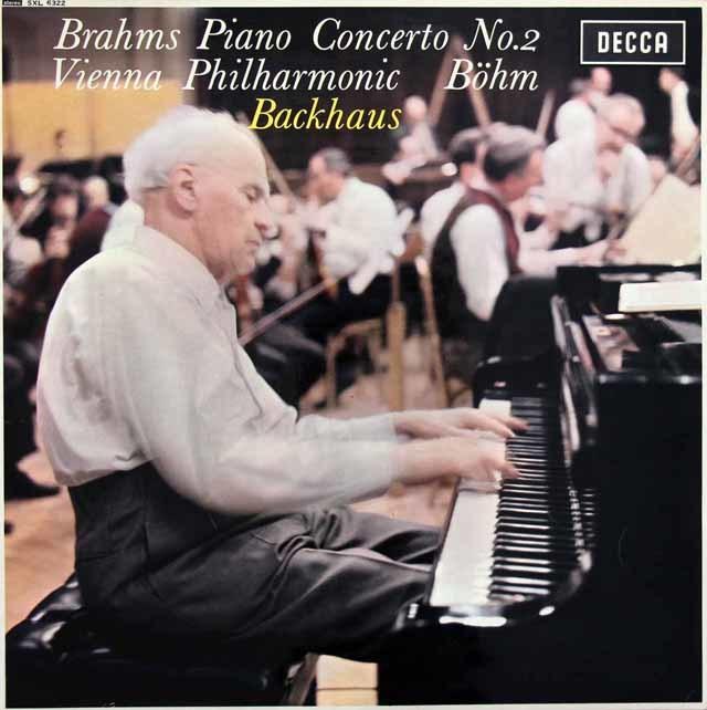 【オリジナル盤】バックハウス&ベームのブラームス/ピアノ協奏曲第2番   英DECCA 3027 LP レコード