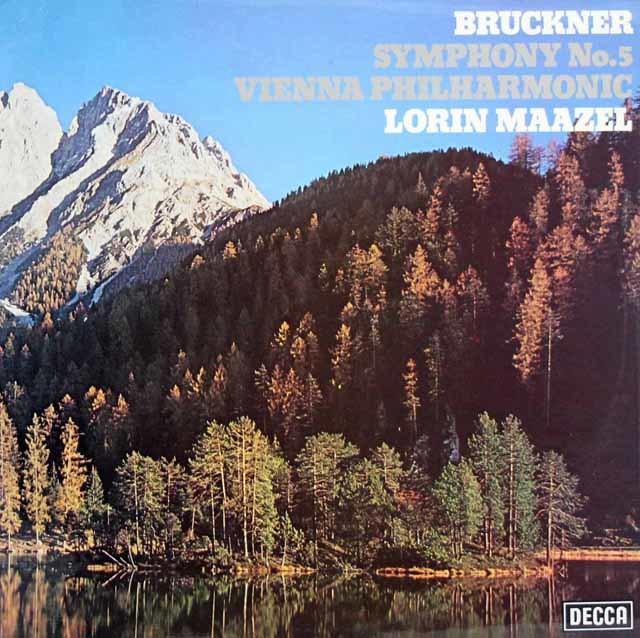 【オリジナル盤】マゼールのブルックナー/交響曲第5番   英DECCA 3027 LP レコード