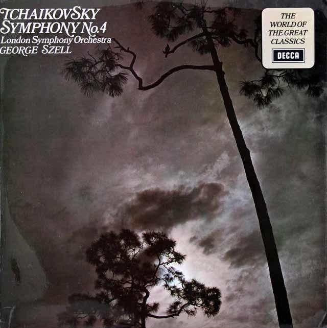 【オリジナル盤】 セルのチャイコフスキー/交響曲第4番   英DECCA 3027 LP レコード