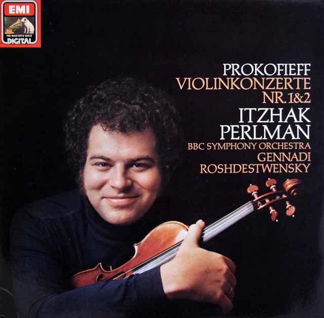 パールマンのプロコフィエフ/ヴァイオリン協奏曲集   独EMI 3027 LP レコード