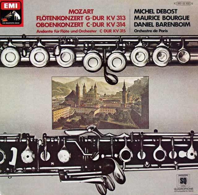 バレンボイムのモーツァルト/フルート&オーボエ協奏曲集   独EMI 3027 LP レコード