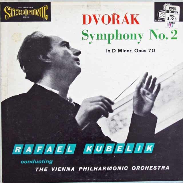 クーベリックのドヴォルザーク/交響曲第7番   英LONDON 3027 LP レコード