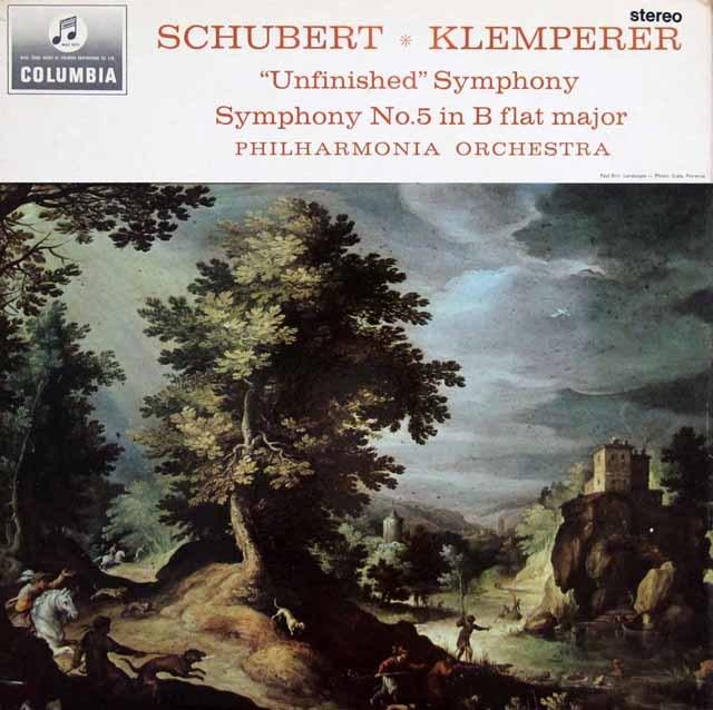 クレンペラーのシューベルト/交響曲第5&8番「未完成」   英Columbia 3027 LP レコード