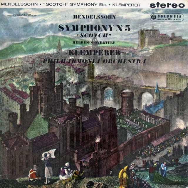 クレンペラーのメンデルスゾーン/交響曲第3番「スコットランド」    英Columbia 3027 LP レコード
