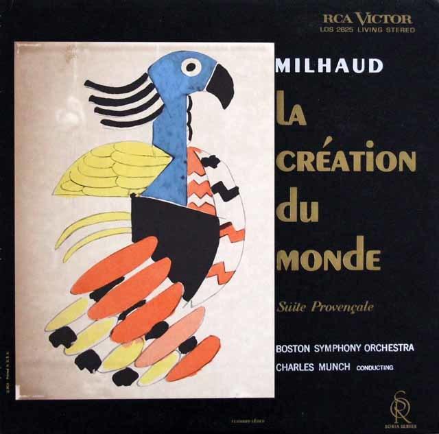【オリジナル盤】ミュンシュのミヨー/「世界の創造」  米RCA 3027 LP レコード