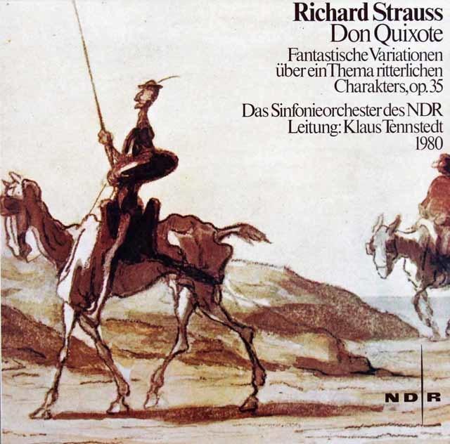 テンシュテットのR.シュトラウス/交響詩「ドン・キホーテ」  独NDR 3027 LP レコード
