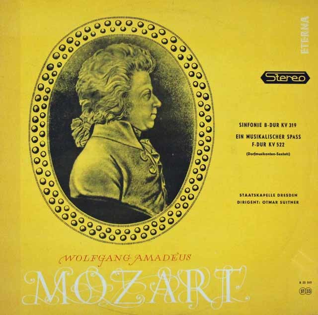 スウィトナーのモーツァルト/交響曲第33番&「音楽の冗談」  独ETERNA 3027 LP レコード