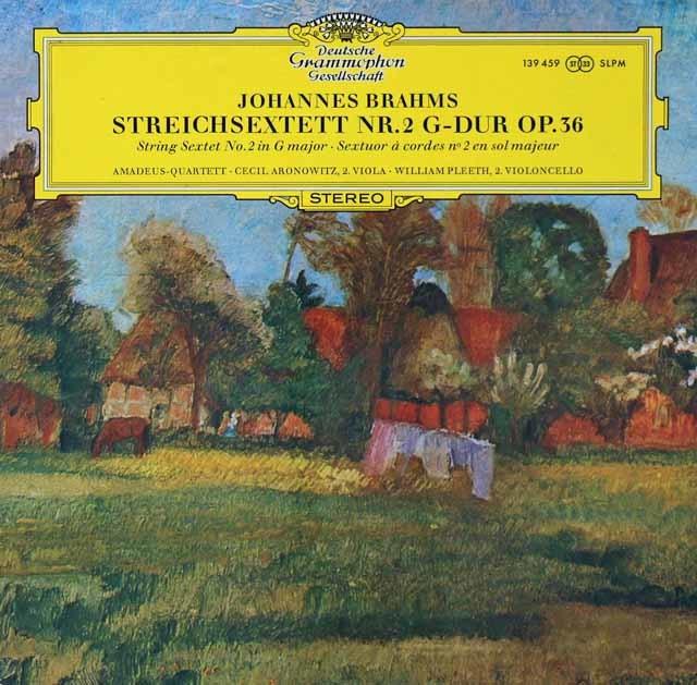 アマデウス四重奏団らのブラームス/弦楽六重奏曲第2番   独DGG 3028 LP レコード