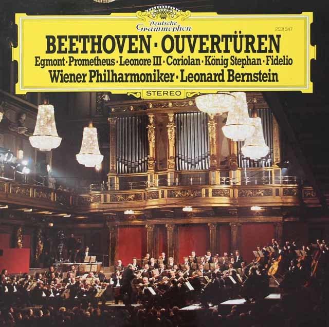 バーンスタインのベートーヴェン/序曲集   独DGG 3028 LP レコード