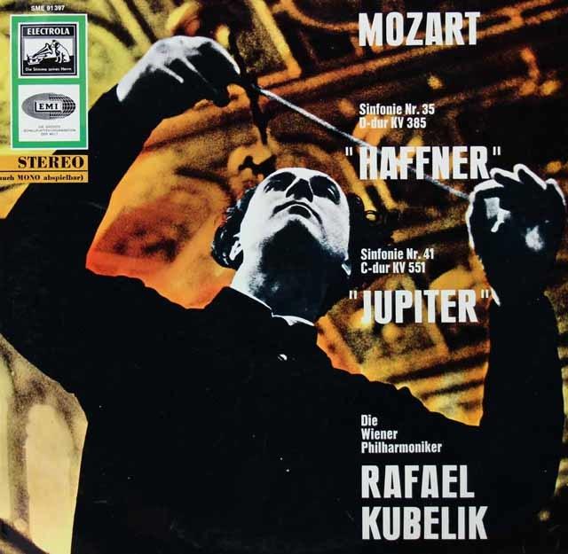 クーベリックのモーツァルト/交響曲「ハフナー」&「ジュピター」   独EMI 3028 LP レコード