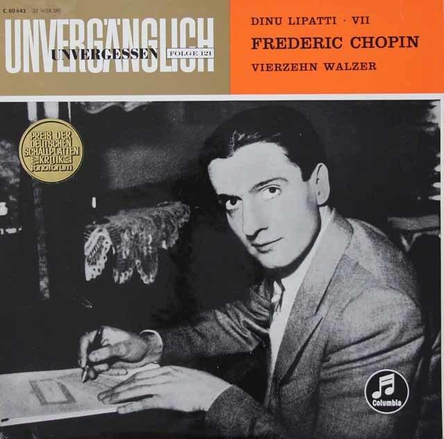 リパッティのショパン/ワルツ集  独Columbia 3028 LP レコード