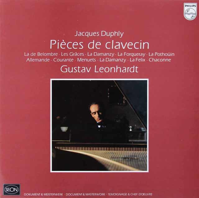 レオンハルトのデュフリ/チェンバロ曲集   蘭PHILIPS(SEON) 3028 LP レコード