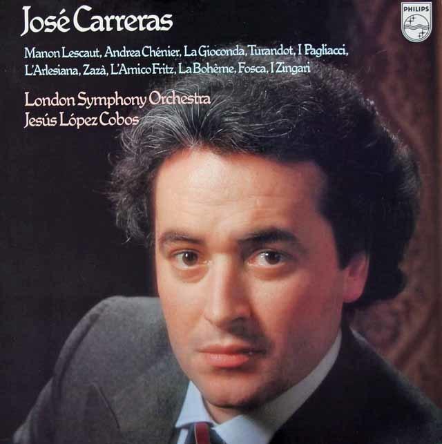 カレーラス/オペラ・アリア集   蘭PHILIPS 3028 LP レコード