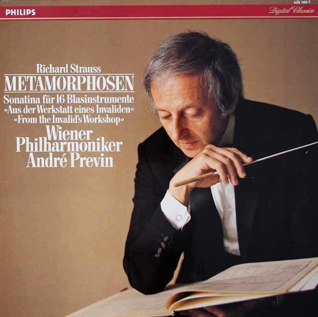 プレヴィンのR.シュトラウス/「メタモルフォーゼン」ほか   蘭PHILIPS 3028 LP レコード