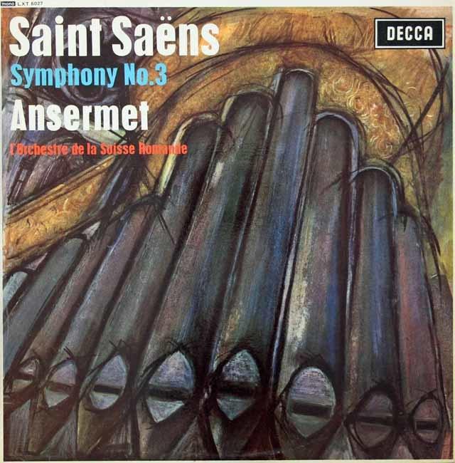 【モノラル】アンセルメのサン=サーンス/交響曲第3番   英DECCA 3028 LP レコード