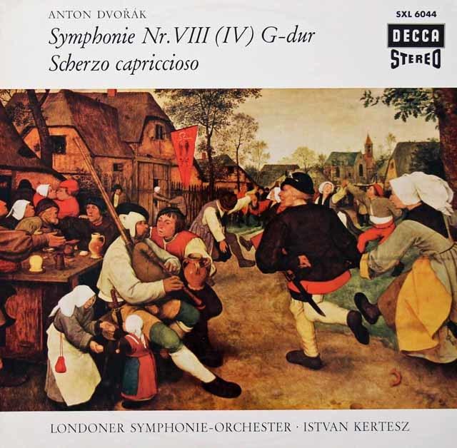 ケルテスのドヴォルザーク/交響曲第8番ほか  独DECCA 3028 LP レコード