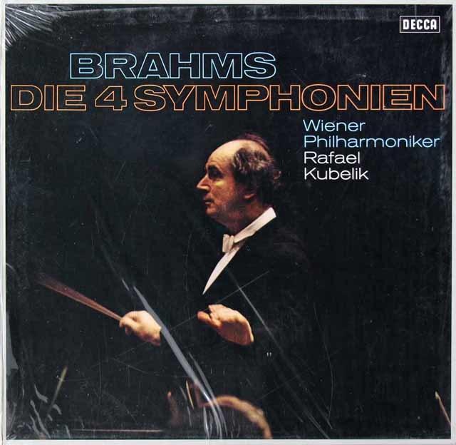 【未開封】クーベリックのブラームス/交響曲全集  独DECCA 3028 LP レコード