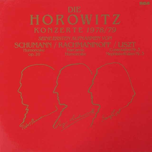 ホロヴィッツ・コンサート1978/79  独RCA 3028 LP レコード