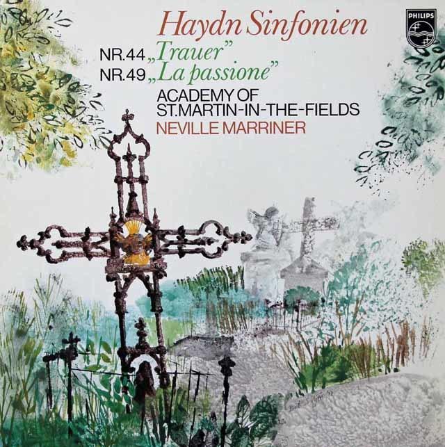 マリナーのハイドン/交響曲第44番「悲しみ」&第49番「受難」   蘭PHILIPS 3028 LP レコード