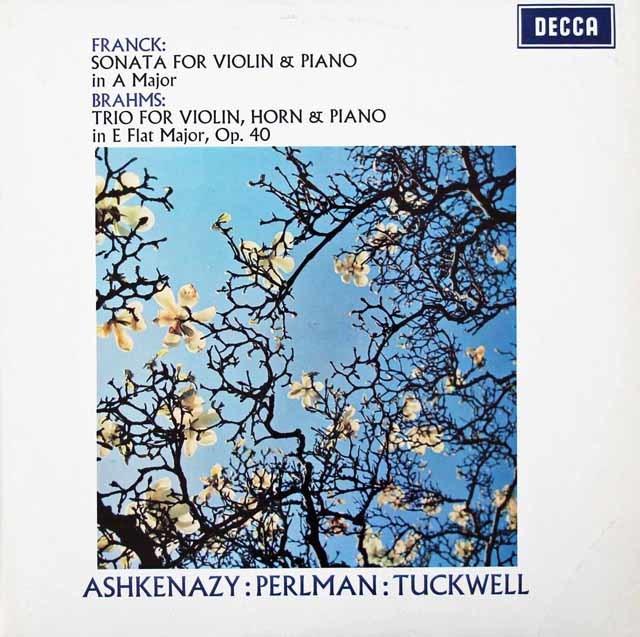 【オリジナル盤】パールマン&アシュケナージのフランク/ヴァイオリンソナタほか  英DECCA 3030 LP レコード