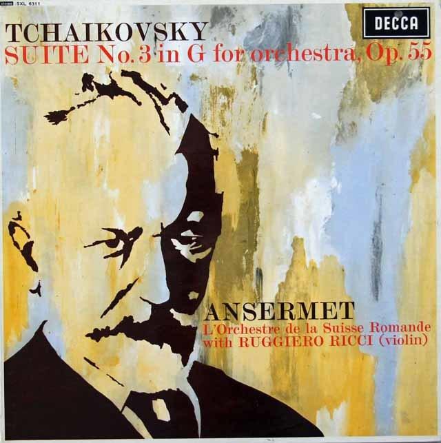 【オリジナル盤】アンセルメのチャイコフスキー/組曲第3番  英DECCA 3030 LP レコード