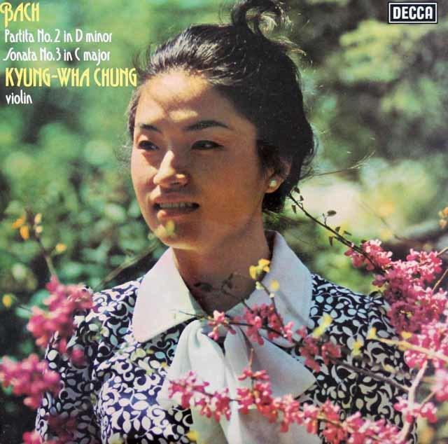 【オリジナル盤】チョンのバッハ/無伴奏ヴァイオリンのためのパルティータ&ソナタ  英DECCA 3030 LP レコード