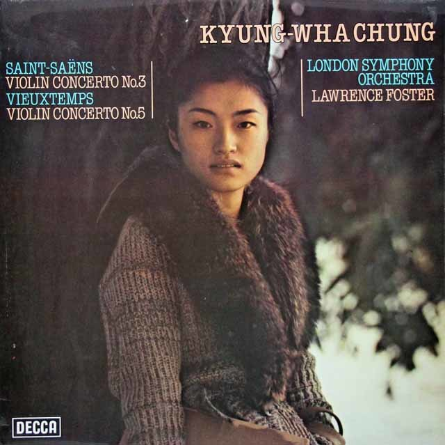 【オリジナル盤】チョンのサン=サーンス&ヴュータン/ヴァイオリン協奏曲集  英DECCA 3030 LP レコード