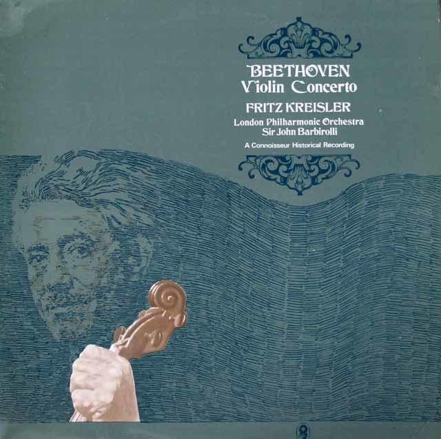 クライスラー&バルビローリのベートーヴェン/ヴァイオリン協奏曲    英EMI 3030 LP レコード