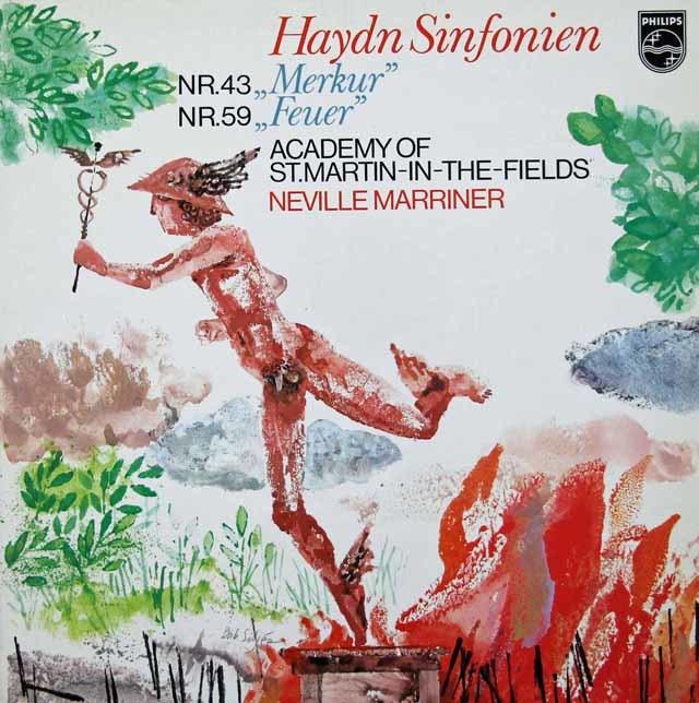 マリナーのハイドン/交響曲第43番「マーキュリー」&第59番「火事」    蘭PHILIPS 3030 LP レコード