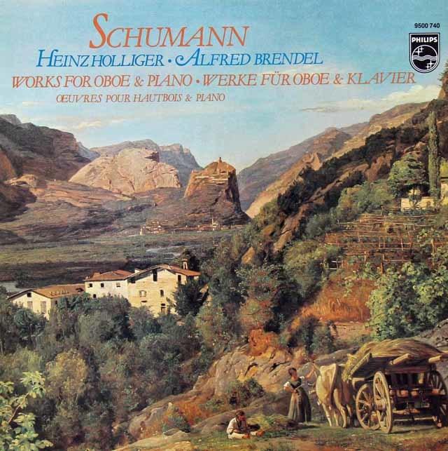 ホリガー&ブレンデルのシューマン/オーボエとピアノのための作品集    蘭PHILIPS 3030 LP レコード